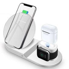 Беспроводная зарядка Fast Charge 3 в 1 (белая) Apple, Samsung, Smart watch и др. устройств