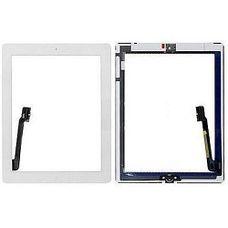 Тачскрин iPad 4 / 3 в сборе (клейкая лента + кнопка home) БЕЛЫЙ