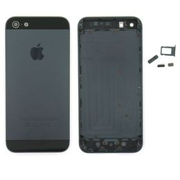 Задняя крышка (корпус) iPhone 5 (черная)
