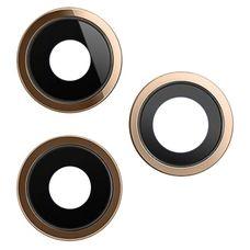 Кольцо основной камеры iPhone 11 PRO MAX 3шт. (объектив) золото