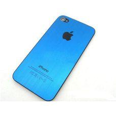 Задняя крышка iPhone 4 синяя (стеклянная)