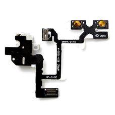 Шлейф iPhone 4 разъем гарнитуры (коннектор аудио) + кнопки громкости (белый) ОРИГИНАЛ