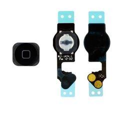 Джойстик iPhone 5 HOME В СБОРЕ ЧЕРНЫЙ (кнопка + мембрана + шлейф)