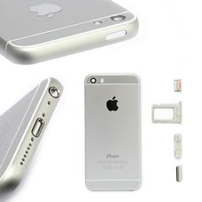 Корпус iPhone 5S в стиле iPhone 6S белый / серебро