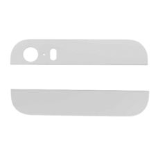 Стеклянные вставки iPhone 5s на заднюю крышку (корпус) белые