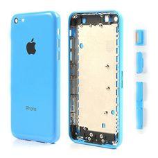 Задняя крышка (корпус) iPhone 5c (синяя)