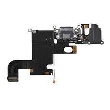 Шлейф iPhone 6 разъем зарядки (коннектор) + аудио разъем гарнитуры (черный) ОРИГИНАЛ