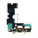 Шлейф iPhone 7 разъем зарядки (черный) ОРИГИНАЛ микрофон+GSM