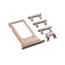 Комплект кнопок iPhone 7 золотые (on-off, громкости, виброрежим)