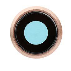 Кольцо основной камеры iPhone 8 (объектив) золотое