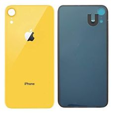 Задняя крышка iPhone XR Желтая (стеклянная)