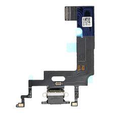Шлейф iPhone XR разъем зарядки (черный) ОРИГИНАЛ + микрофон
