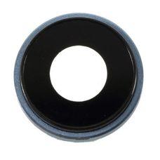 Кольцо основной камеры iPhone XR Синее (стекло)