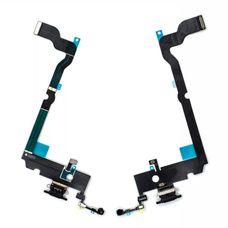 Шлейф iPhone XS MAX разъем зарядки (черный) ОРИГИНАЛ + микрофон