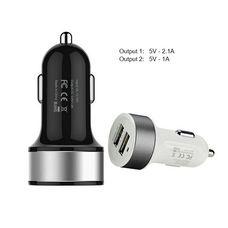 АЗУ iPhone/iPad 2 USB (1A и 2,1A) Автомобильное зарядное устройство