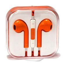 Наушники IPhone оранжевые