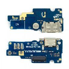 Разъем зарядки (плата шлейф) ASUS Zenfone Go ZB551KL + микрофон + вибромотор