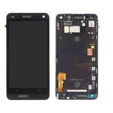 Дисплей HTC ONE M7 801e черный (модуль, в сборе) ОРИГИНАЛ В РАМКЕ
