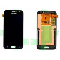 Дисплей Samsung Galaxy J1 J120 OLED Черный 2016г. (экран + тачскрин, стекло)
