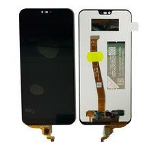 Дисплей Huawei Honor 10 Premium COL-L29 Черный (экран + тачскрин, стекло) со сканером отпечатка