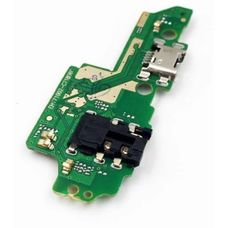 Разъем зарядки Huawei Honor 7X BND-L21 на плате микрофон и разъем гарнитуры