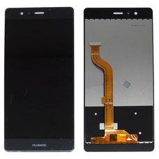 Дисплей Huawei P9, P9 Dual Черный (экран + тачскрин, стекло) ОРИГИНАЛ