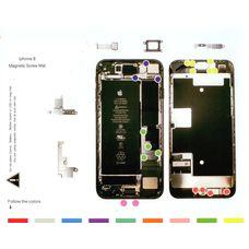 Магнитный коврик iPhone 8 (схема разбора)