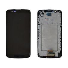 Дисплей LG K10 K430DS K410 LH530WX2-SD01 V03 Черный, В РАМКЕ (экран + сенсор)