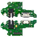Разъем зарядки Huawei P-Smart Z на плате микрофон, micro USB