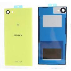 Задняя крышка Sony Xperia Z5 mini (Compact) ЖЕЛТАЯ E5823 (стеклянная)