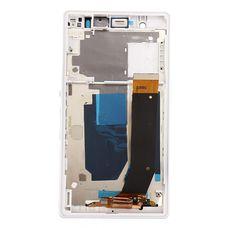 Дисплей Sony Xperia Z БЕЛЫЙ В РАМКЕ C6603 C6602 C6606 L36h c тачскрином (модуль в сборе)