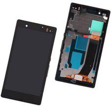 Дисплей Sony Xperia Z ЧЕРНЫЙ В РАМКЕ C6603 C6602 C6606 L36h c тачскрином (модуль в сборе)