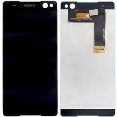 Дисплей Sony Xperia C5 Ultra (Dual) E5506 E5533 E5563 ЧЕРНЫЙ (экран + тачскрин, стекло)