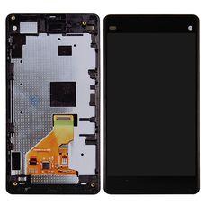 Дисплей Sony Xperia Z1 mini ЧЕРНЫЙ В РАМКЕ D5503 (Compact) c тачскрином (экран+сенсор)