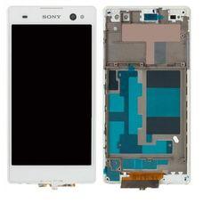 Дисплей Sony Xperia C3 D2533 D2502 Белый В РАМКЕ (модуль в сборе)