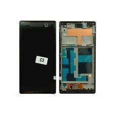 Дисплей Sony Xperia C3 D2533 D2502 Черный В РАМКЕ (модуль в сборе)