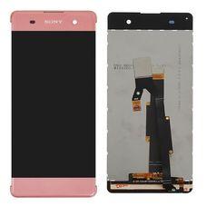 Дисплей Sony Xperia XA, XA Dual F3111 F3112 РОЗОВЫЙ (экран + тачскрин, стекло)