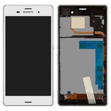 Дисплей Sony Xperia Z3 DUAL В РАМКЕ БЕЛЫЙ D6603 D6633 D6643 D6653 D6616 (экран + тачскрин)