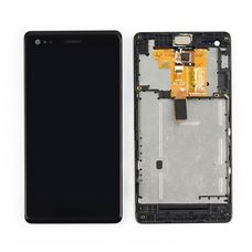 Дисплей Sony Xperia M Dual C1905 C1904 C2005 В РАМКЕ черный (экран + тачскрин, стекло)