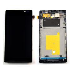 Дисплей Sony Xperia C C2305 S39H В РАМКЕ. черный (экран + тачскрин, стекло)