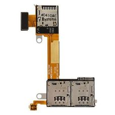 Шлейф SIM разъем (считыватель) Sony Xperia M2 D2302 + micro SD