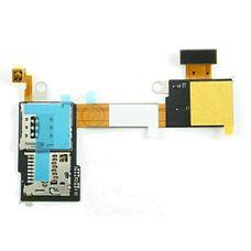 Шлейф SIM разъем (считыватель) Sony Xperia M2 D2303 + micro SD