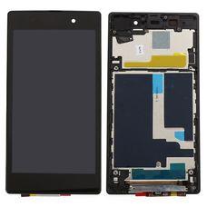 Дисплей Sony Xperia Z1 C6903 В РАМКЕ ЧЕРНЫЙ c тачскрином (модуль в сборе)
