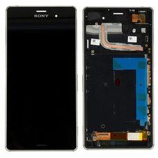 Дисплей Sony Xperia Z3 DUAL В РАМКЕ ЧЕРНЫЙ D6603 D6633 D6643 D6653 D6616 (модуль в сборе)