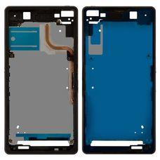 Корпус Sony Xperia Z2 D6502 D6503 ЧЕРНЫЙ (средняя часть)