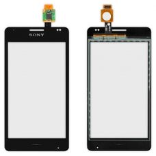 Тачскрин Sony Xperia E1 D2004 / D2005 / D2104 / D2105 / D2114 ЧЕРНЫЙ (стекло сенсорное)