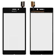 Тачскрин Sony Xperia M2 AQUA ЧЕРНЫЙ D2403 (Touchscreen)