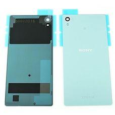 Задняя крышка Sony Xperia Z4 (Z3 Plus) ГОЛУБАЯ E6553 E6533 (стеклянная)