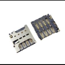 Коннектор SIM Sony Xperia C C2305 C2306 S39h (разъем, считыватель сим карты)