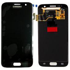 Дисплей Samsung Galaxy S7 SM-G930F ЧЕРНЫЙ (экран + сенсорное стекло)